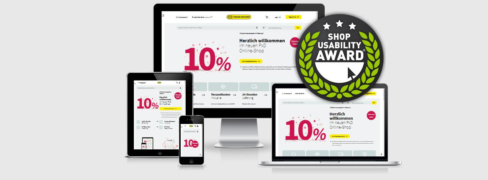 Praxis-Discount - Usability Award 2017